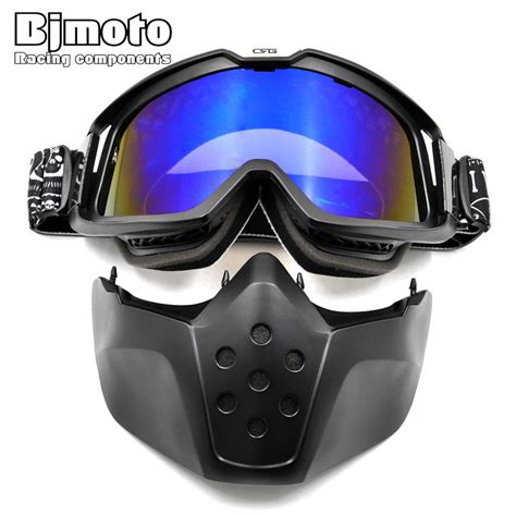 Kacamata Mask Modulargoogle Masker Smoke bjmoto motorcycle mask dust dust mask with detachable goggles and and filter for