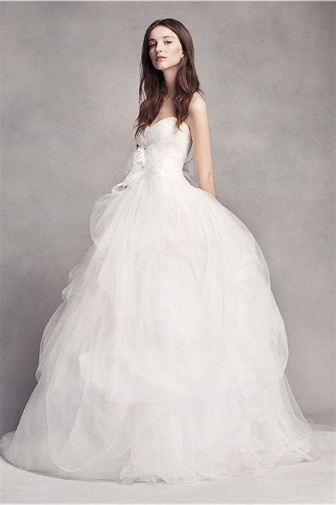 White Bridal Dresses by White By Vera Wang Taffeta And Tulle Wedding Dress