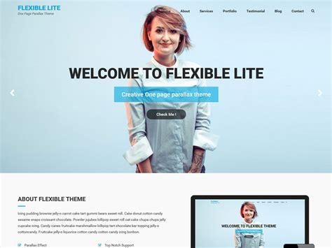 wordpress theme flexible layout best free one page parallax wordpress theme