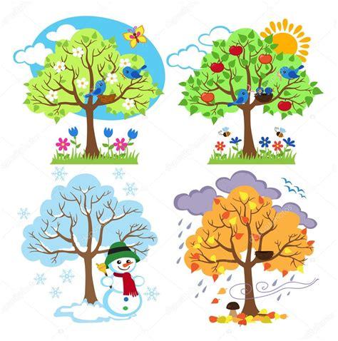 alberi clipart quattro stagioni alberi clipart e vettoriali con primavera