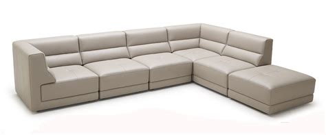 Taupe Leather Sectional by Hazel Modern Taupe Eco Leather Sectional Sofa W Ottoman