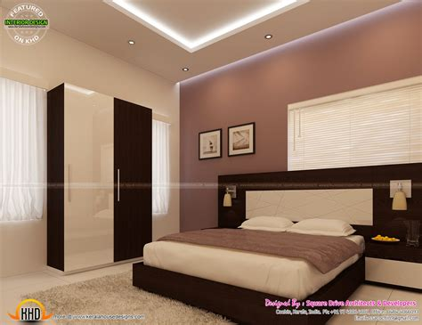 bedroom interior decoration kerala home design  floor
