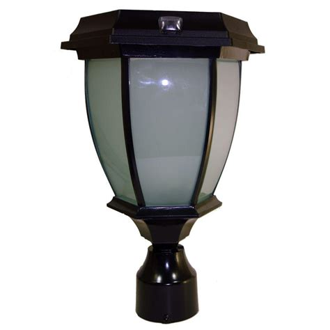 Solar Pole Light Solar Goes Green Solar Black Led Outdoor Warm White Coach