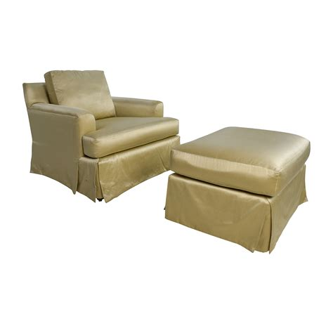 sofa chair ottoman 90 off abc carpet and home abc carpet home gold sofa