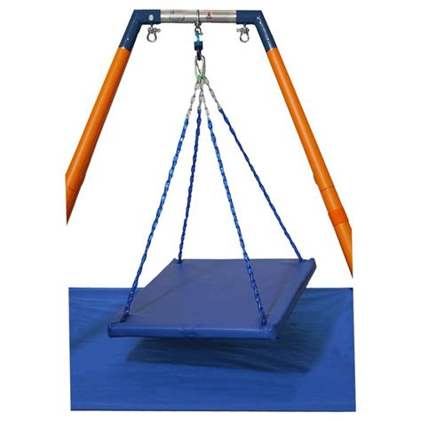 board swing haleys joy on the go iii swing with large platform board
