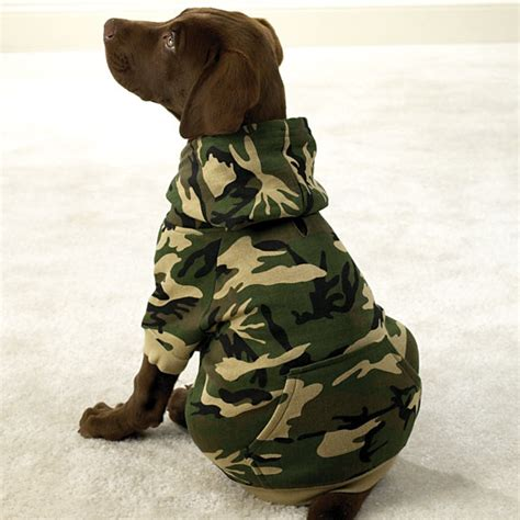 hoodies for dogs casual canine camouflage adventure hoodie pet camo cotton sweatshirt new ebay
