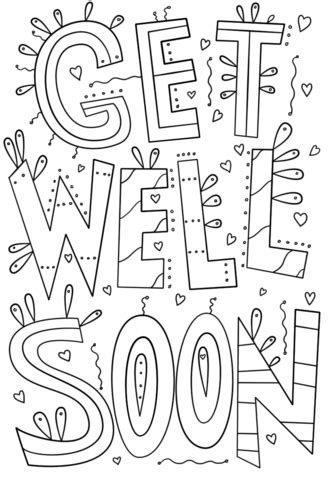 get well soon grandma coloring pages get well soon doodle coloring page free printable