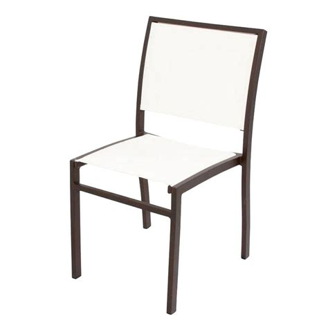 White Sling Patio Chairs by Polywood Satin White Aruba Patio Dining Side Chair