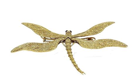 Original Dragonfly L by Fred Leighton 1980s Yellow Gold Tremblant