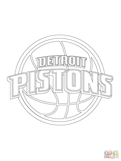 Tshirt Detroit Pistons 02 detroit pistons logo coloring page free printable
