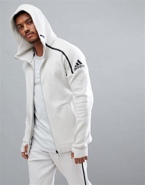 adidas zne lyst adidas zne 2 hoodie in cream cw1347 for men