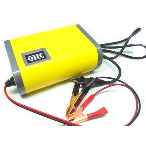 portable car battery chargers reviews portable motorcycle car battery charger 6a 12v yellow