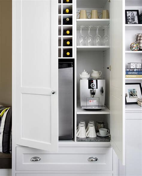 Mini Fridge With Wine Rack by Kitchen Cabinet With Coffee Station And Wine Bar
