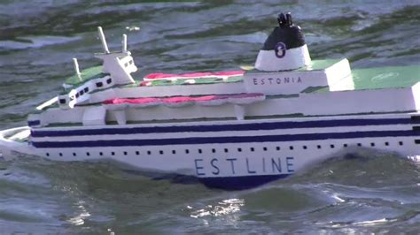 rc boats sinking youtube rc schiff ms estonia im sturm rc ship in storm self