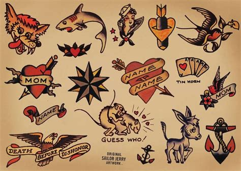 american vintage tattoo sailor jerry parlour poster respec