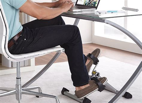 Exercise At Desk While Working by Pedaling At Desk Offers Workout While At Work 183 Guardian