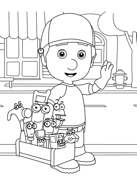 Handy Manny Coloring Pages For Kids Printable Free Handy Manny Coloring Pages