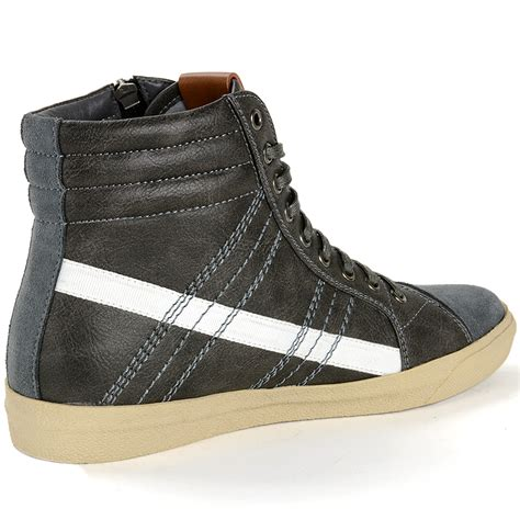 mens high fashion sneakers alpine swiss reto mens high top sneakers lace up zip