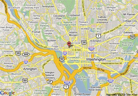 hotels in washington dc map map of renaissance m hotel washington