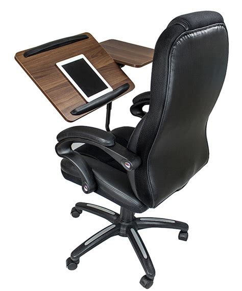 chair with laptop desk here s an office chair that serves as a desk the
