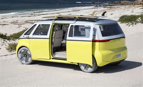 new volkswagen bus yellow volkswagen green lights electric microbus revival in 2022