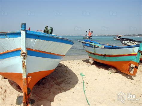 fishing boat on the beach nabeul rentals in a villa for your vacations with iha direct