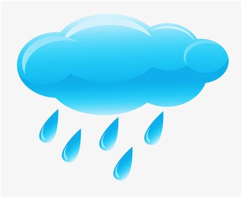 clipart pioggia clouds and raindrops creative painted png