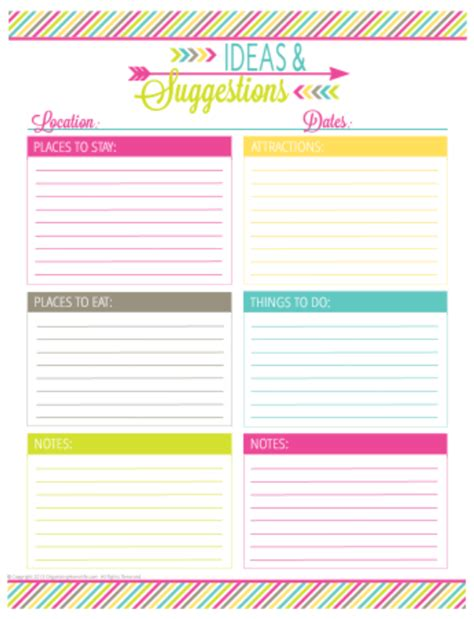 printable vacation planners vacation planning printable pack organizing homelife