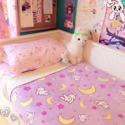 kawaii bedroom usagi tsukino bed sheets i want themm kawaii bedroom