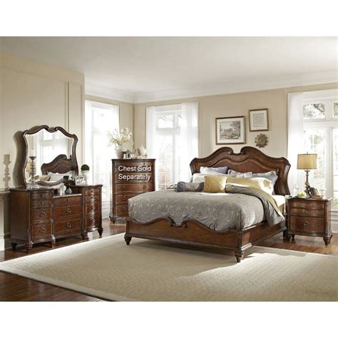 King Bedroom Furniture Sets Marisol Brown 6 Cal King Bedroom Set