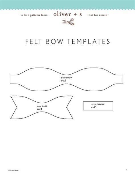 pattern for felt bows felt bow pattern crafts pinterest