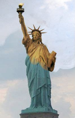 what color is the statue of liberty statue of liberty city guides and green colors on