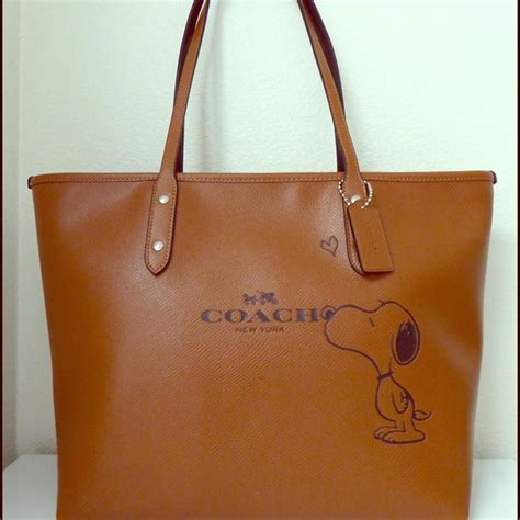 Coach City Tote 6 coach coach snoopy city tote no trades do not ask from wandysmom s closet on poshmark