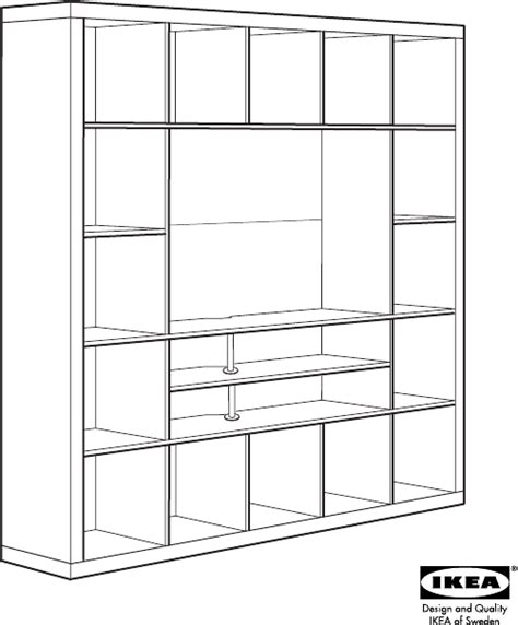 """Download IKEA EXPEDIT TV STORAGE UNIT 73X73"""" Assembly"""