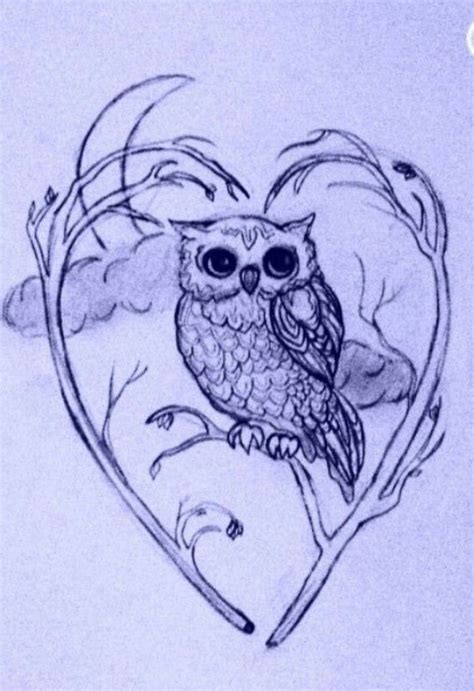 owl tattoo design drawing owl drawing cute concept my obsession with owls