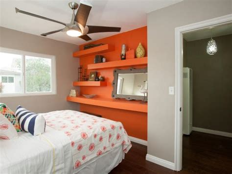 bedrooms with orange walls bedroom with orange accent wall hgtv
