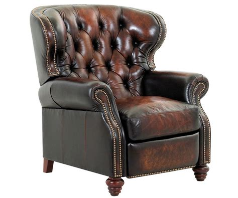 reading recliner arthur old world chesterfield style wingback leather