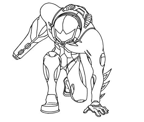 metroid fusion lineart by crazycowco on deviantart