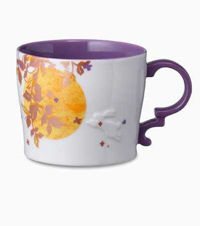 Starbucks Rabbit Mug starbucks city mug 2013 mid autumn festival purple interior mug 14oz with rabbit relief from