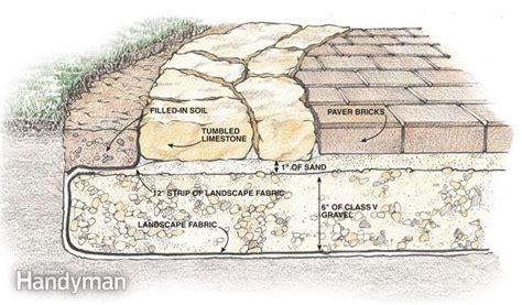 Paver Patio Gravel Base Build A Stone Patio Or Brick Patio The Family Handyman