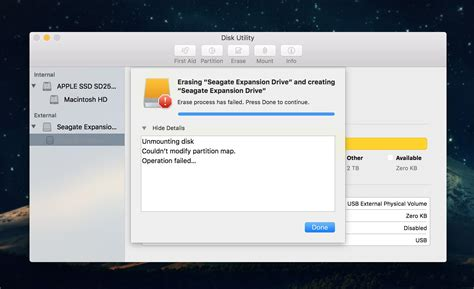 format external hard drive mac error could not unmount disk hard drive how to format a seagate hdd to os x extended
