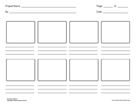 Storyboard Panels Template storyboard template word document here template