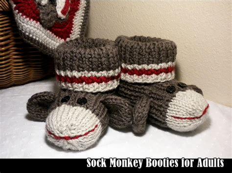 sock monkey booties knitting pattern free sock monkey booties for adults knitting pattern on luulla