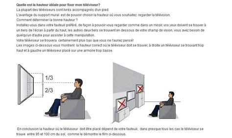A Quelle Hauteur Fixer Une Tv Murale by Hauteur Tv Murale
