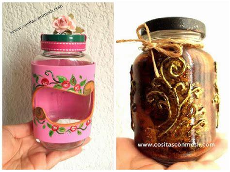decorar frascos de vidrio con goma eva manualidades frascos de vidrio reciclados con corazones