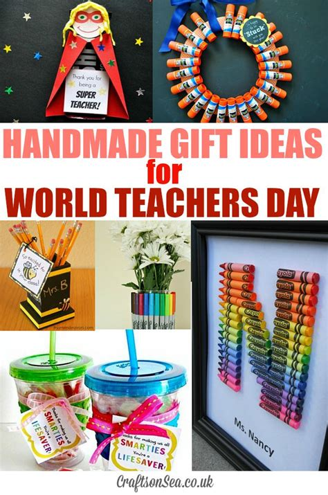 world teachers day and teachers gift ideas crafts on sea