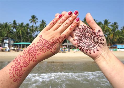 tattoo prices goa henna tattoo on the hand stock photo image of