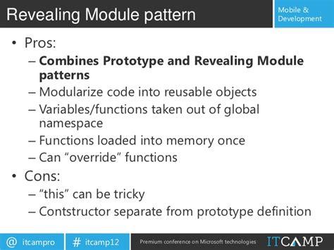revealing module pattern node js building single page modular html5 applications for pc