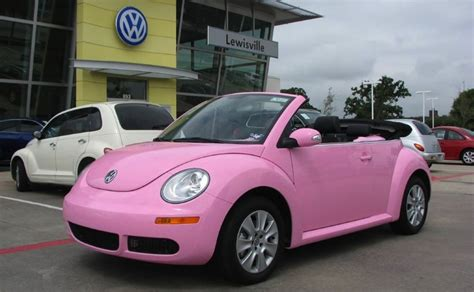volkswagen new beetle pink volkswagen beetle most popular vehicle for women report