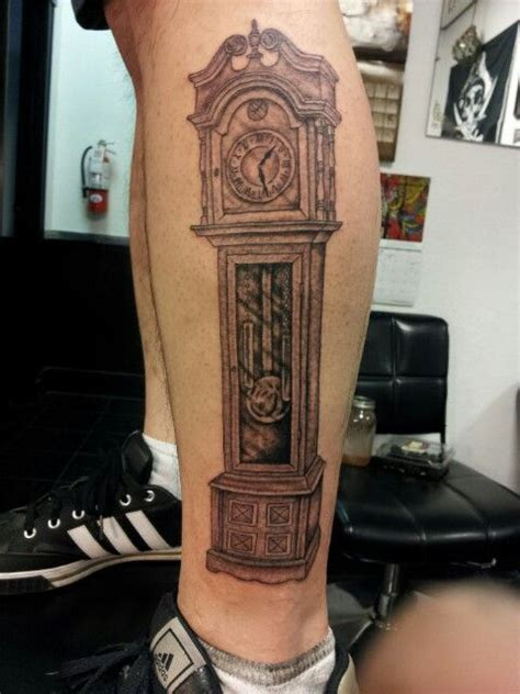 grandfather clock tattoo teds grandfather clock next the o